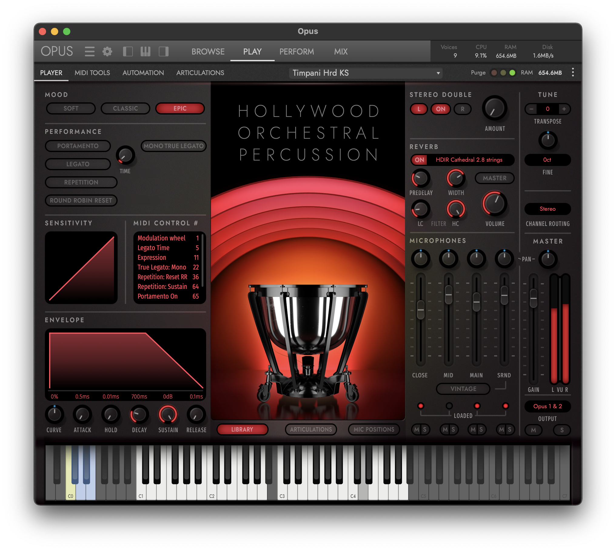 Hollywood Orchestra Opus Edition Interface - Hollywood Orchesral Percussion - Epic