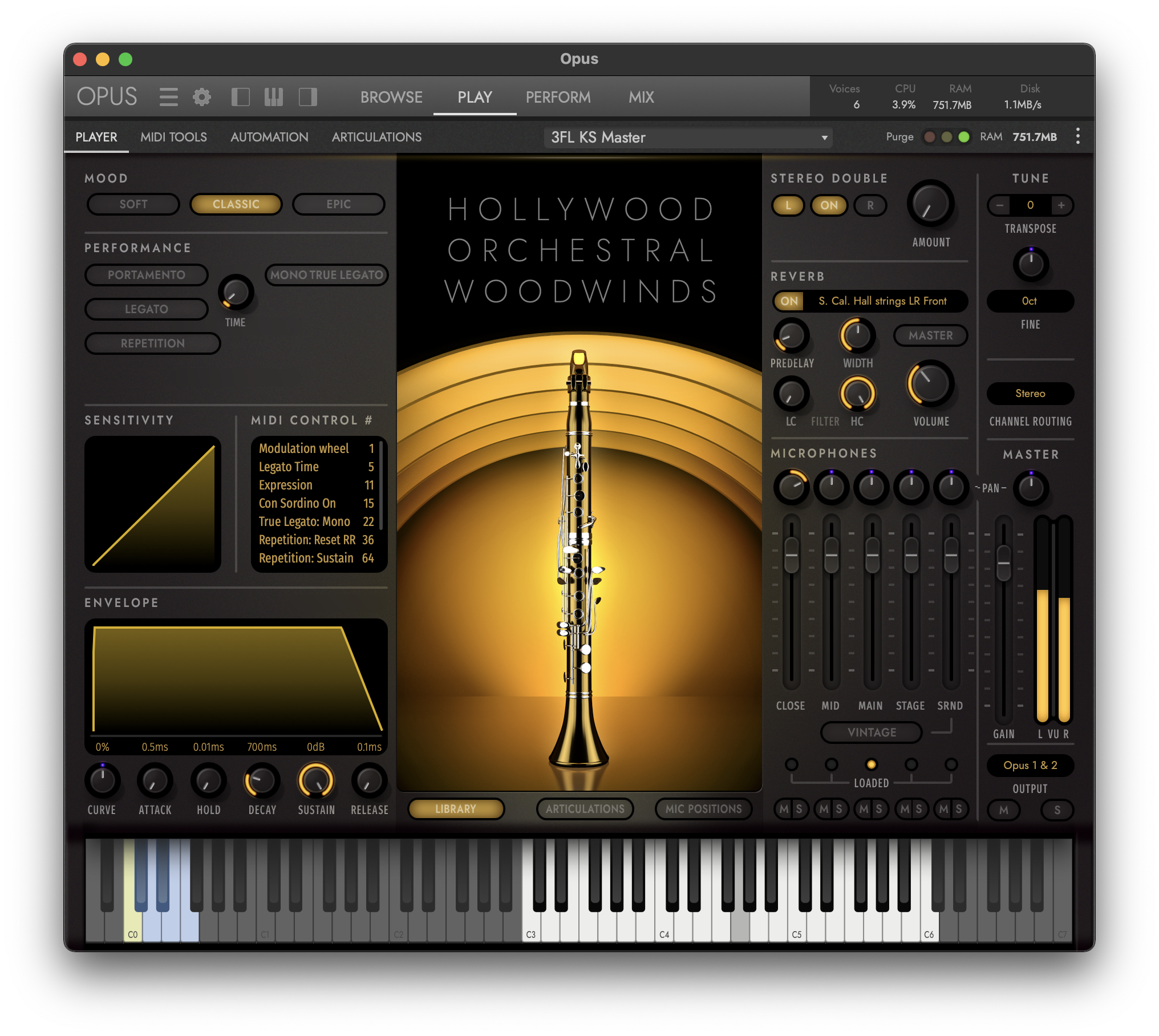 Hollywood Orchestra Opus Edition Interface - Hollywood Orchestral Woodwinds - Soft