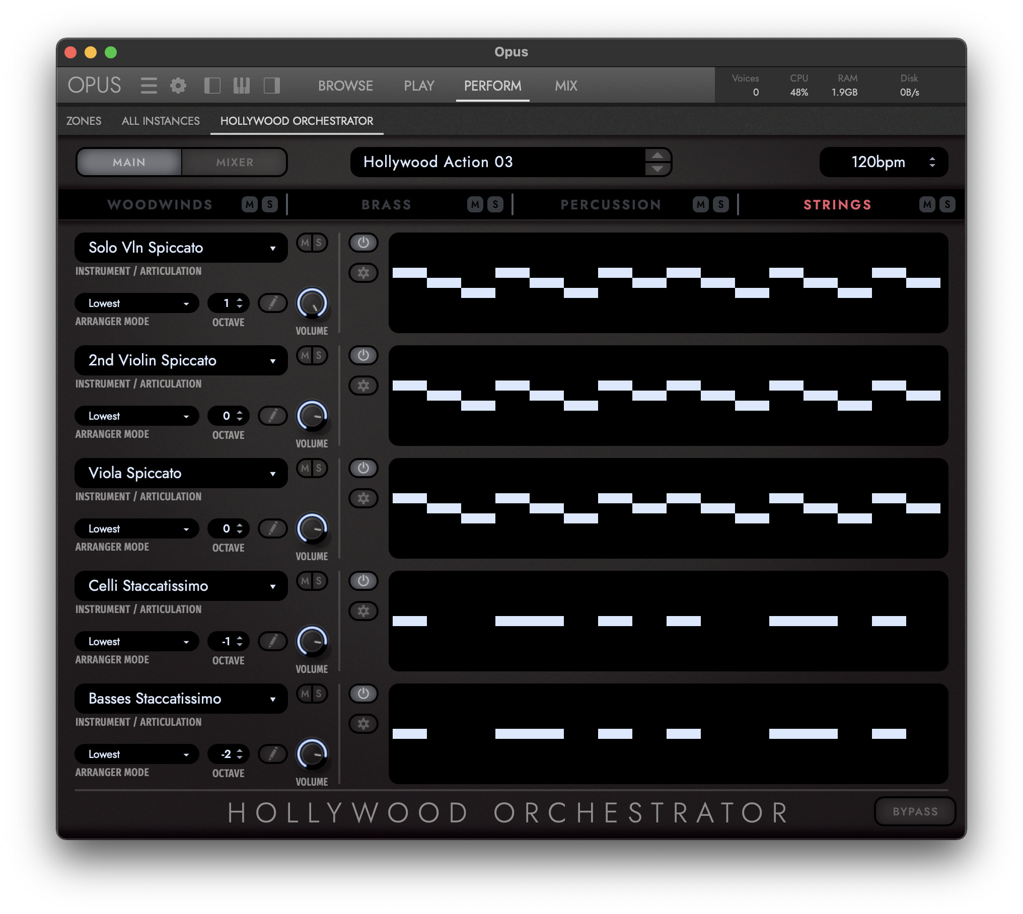 Hollywood Orchestrator - Main View